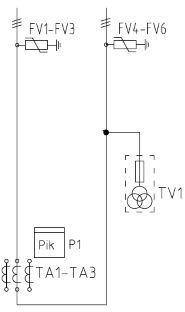 Однолинейная схема ПКУ-6 (10)